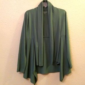 Green Waterfall Open Front Cardigan